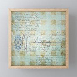 carnet de chèques Framed Mini Art Print