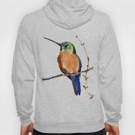 Hummingbird, Cinnamon Hummingbird, Minimalist Bird design Hoody