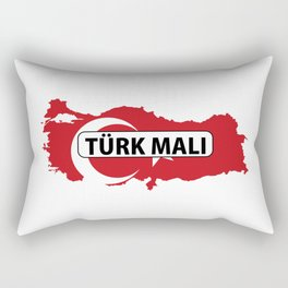 made in turkey country national flag map  Rectangular Pillow