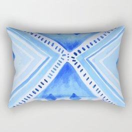 Indigo Tribal Mandala Rectangular Pillow