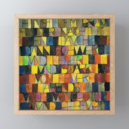 Paul Klee Once Emerged from the Gray of Night Framed Mini Art Print