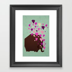 last mammoth Framed Art Print