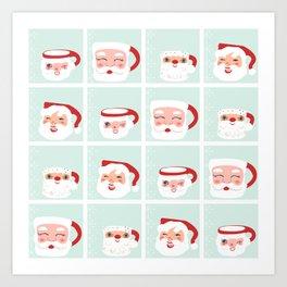 Mint Santa Mug Shots Art Print