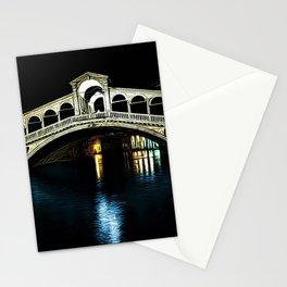 Rialto Bridge, Grand Canal, Venice, Italy Landscape by Jeanpaul Ferro Stationery Cards