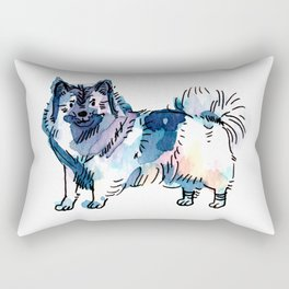 Winter - Dog Watercolour Rectangular Pillow