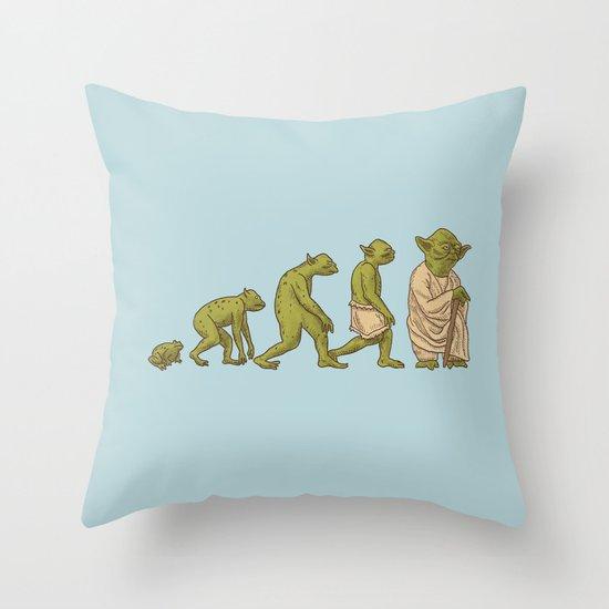 Yodalution  Throw Pillow