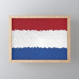 Extruded flag of the Netherlands Framed Mini Art Print