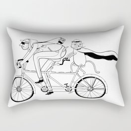 cat ride Rectangular Pillow