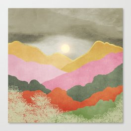 Colorful mountains Canvas Print