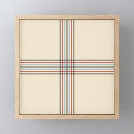 Filigree Fine Lined Cross Framed Mini Art Print