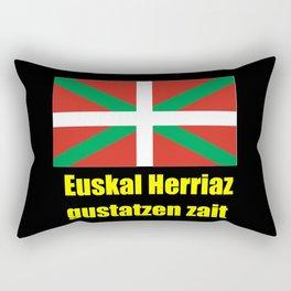 Flag of Euskal Herria 5 -Basque,Pays basque,Vasconia,pais vasco,Bayonne,Dax,Navarre,Bilbao,Pelote,sp Rectangular Pillow