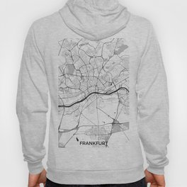 Frankfurt City Map Gray Hoody