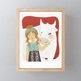 Zeus lovers serie - EUROPA Framed Mini Art Print