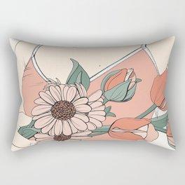 Daisies & Tulips Rectangular Pillow