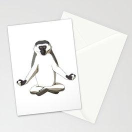 Meditate Monkey Stationery Cards