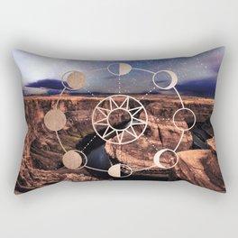 Mandala Southwest Desert Sun and Moon Phases Rectangular Pillow