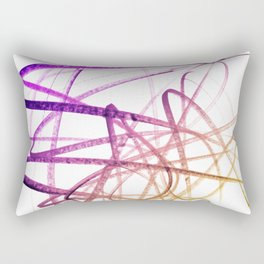 Violet Mulberry Goldenrod Tangled Abstract Rectangular Pillow