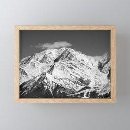 Mt. Blanc with cloud. Framed Mini Art Print
