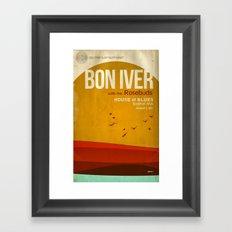 Custom Bon Iver concert poster Framed Art Print