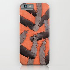 Leather Feathers iPhone 6s Slim Case