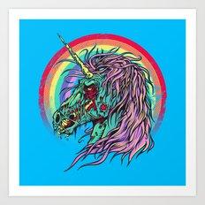 Zombie Unicorn Art Print