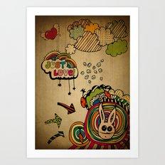 Just Love! Art Print