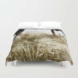 Tall Grass in the Wind Duvet Cover