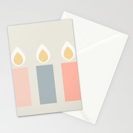 Hygge Xmas Candles Stationery Cards