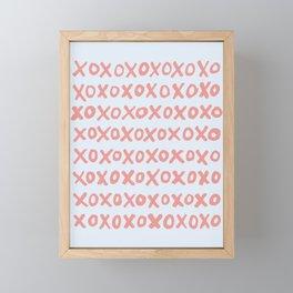 Tic Tac Toe (XOXO) Framed Mini Art Print