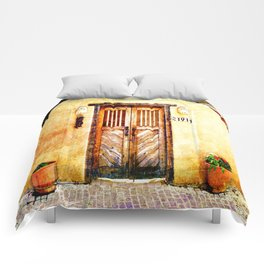Romance of New Mexico Comforters