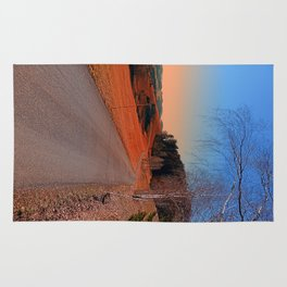 Country road into a beautiful sunset at Auberg | landscape photography Rug