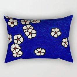 Small white flowers Rectangular Pillow