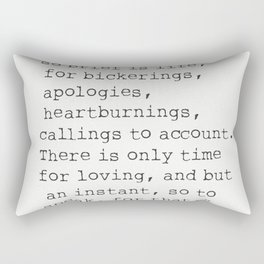 """There isn't time..."" Mark Twain quote Rectangular Pillow"