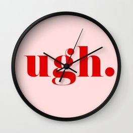 ugh. Wall Clock