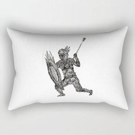 Tribal Warrior Rectangular Pillow