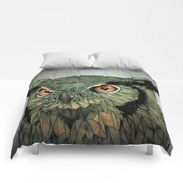 Owl - Red Eyes Comforters