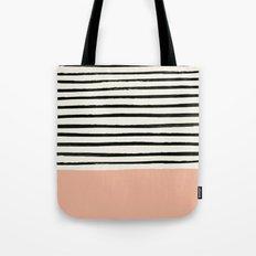 Peach x Stripes Tote Bag