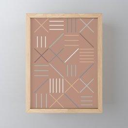 Geometric Shapes 07 Framed Mini Art Print