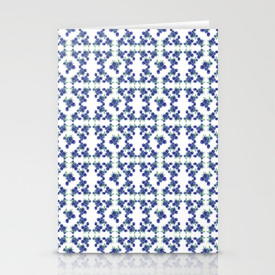 Violet Flowers Pattern Stationery Cards