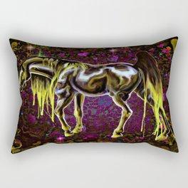 Yellow Love Horse Rectangular Pillow