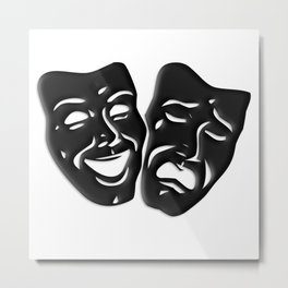 Theater Masks of Comedy and Tragedy Metal Print