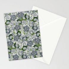 succulents green indigo Stationery Cards