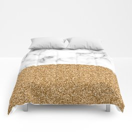 dip-dyed marble – yellow gold Comforters