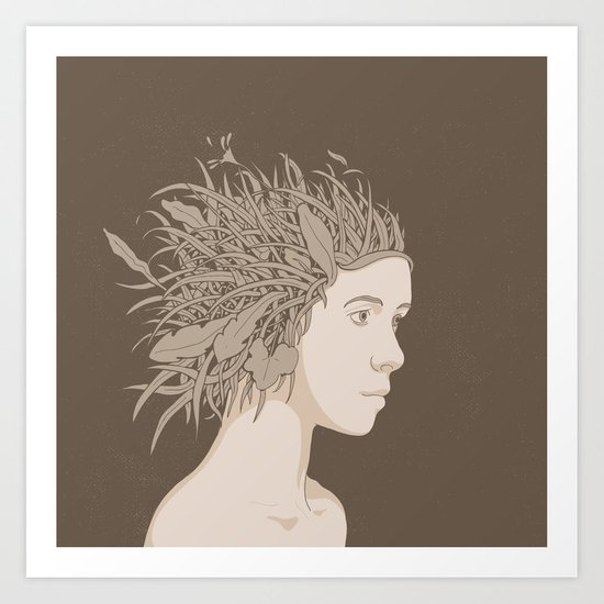 NATURE PORTRAITS 01 SIMPLIFIED Art Print