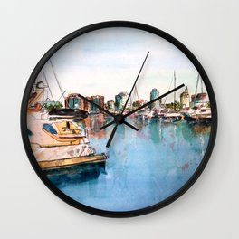 Long Beach Coast Wall Clock