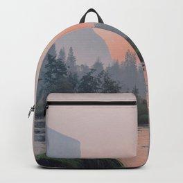 Yosemite Valley Sunrise Pretty Pink Backpack