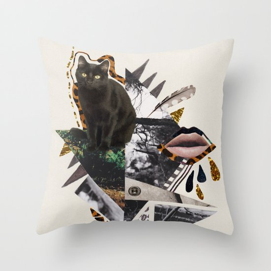 AYAHUASCA CAT Throw Pillow