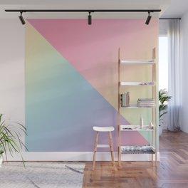Geometric abstract rainbow gradient Wall Mural
