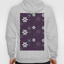 Floral Pattern in Purple Hoody