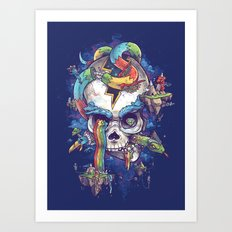 Strangely familiar Art Print